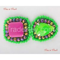 Brooches - Neon inspired green with a touch of pink to make you stand out in a crowd