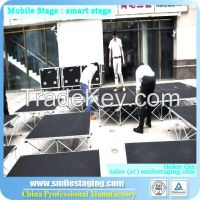 Portable stage mobile stage wooden platform stage