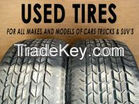Used tires & tire casings for PC,LT,TB from Japan