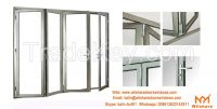 High Quality Aluminum Tempered Glass Sliding bifolding Door