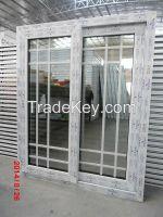 Competitive price UPVC Sliding window wih grid style