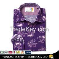 2015 latest long sleeve fashion casual cotton printed shirt