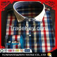 long sleeve fashion cotton casual plaid shirt