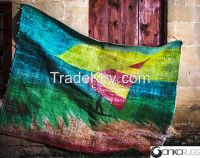 Vintage Handmade  Overdyed&Handpainted Turkish Carpet
