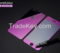 Colorful tempered glass protector for iphone 6/6plus 5/5s/5c