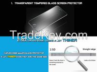 Transparent tempered glass