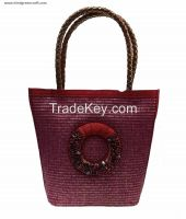 Red Designer Jute Bag