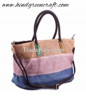 Multi Jute Shoulder Bags