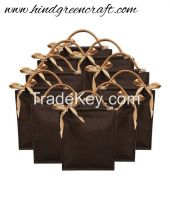 Brown Jute Shoulder Bag_Pack Of 10