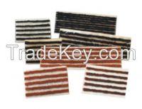 Tire repair tool, tire seal, tire repair string, adhensive tape