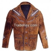 real leather  fring jackets for mens