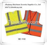 High Visibility Reflective Work Safety Clothes Vest With Reflective Tape