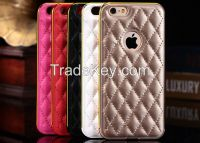 Metal Frame Leather Phone Case for iPhone