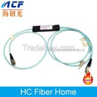 High Quality FBT 1*2 Port MM OM3 FBT Fiber Optic Splitter FC/LC/SC/ST Connectors  Available