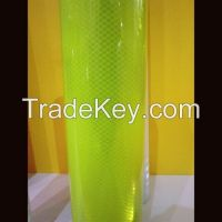 Fluorescent Lime Yellow Green Reflective Film