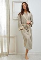 bathrobe for women100% linen. Designed and manufactured in Italy