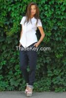 woman Pants & Trousers 100% linen. Made in Italy