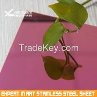 color PVD coating finish stainless steel sheet for decoration