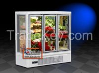 14FE stand upright vertical freezer dispaly showcase cabinet for flower