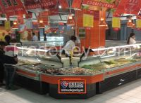 13SB Refrigerating freezer dispaly showcase cabinet for deli used in restaurant, hotel and supermaket (sliding door in the back)