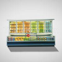 12ZT Combined Multideck Refrigerating freezer display Showcase cooler