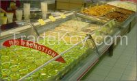 09CD horizontal Refrigerating freezer dispaly showcase cabinet for fresh meat used in restaurant, hotel and supermaket