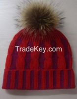 100% cashmere hats caps with ball