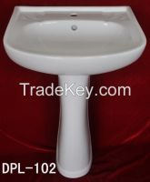 WASHBASIN WITH PEDESTAL; HOT SALE GOOD QUALITY WITH COMPETITIVE PRICE