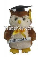 Graduation Animal Stuffed Plush Toy